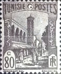 Stamps : Africa : Tunisia :  Intercambio 0,25 usd 80 cent. 1940