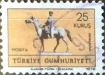 Stamps : Asia : Turkey :  Intercambio 0,20 usd  25 k. 1972