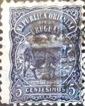 sello : America : Uruguay : Intercambio 0,20 usd  5 cent. 1906