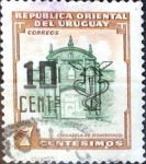 Sellos del Mundo : America : Uruguay : Intercambio 0,20 usd  10 sobre 7 cent. 1958