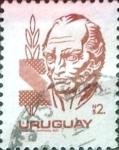 Sellos de America - Uruguay -  Intercambio 0,30 usd  2 p. 1980