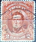 Sellos del Mundo : America : Uruguay : Intercambio 0,20 usd  2 cent. 1910