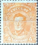 Sellos del Mundo : America : Uruguay : Intercambio 0,20 usd  4 cent. 1914