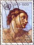 Stamps : Europe : Vatican_City :  Intercambio 0,20 usd  20 l. 1970
