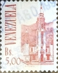 Stamps : America : Venezuela :  Intercambio dm1g3 0,20 usd  5 b. 1993