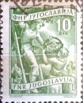 Stamps : Europe : Yugoslavia :  Intercambio 0,20 usd  10 d. 1952