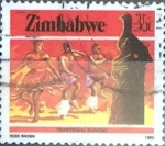 Sellos del Mundo : Africa : Zimbabwe : Intercambio 0,45 usd 35 cent. 1985