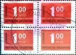 Stamps : America : Argentina :  Intercambio 0,80 usd 4 x 1 p. 1972