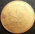 monedas de Europa - Alemania -  1980 (Anverso)