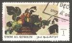 Sellos del Mundo : Asia : Emiratos_Árabes_Unidos : Umm al Qiwain - Pintura de Caravaggio