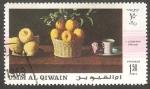 Sellos del Mundo : Asia : Emiratos_Árabes_Unidos : Umm al Qiwain - Pintura de Zurbaran