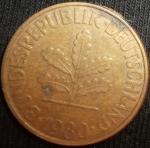 monedas del Mundo : Europa : Alemania :  1980 (Anverso)