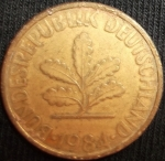 monedas de Europa - Alemania -  1984 (Anverso)