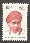Sellos de Asia - India -  Sir Chandrasejara Venkata Raman, nobel de física