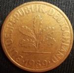 monedas de Europa - Alemania -  1989 (Anverso)