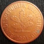 monedas de Europa - Alemania -  1991 (Anverso)