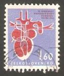 Stamps Czechoslovakia -   1350 - IV congreso europeo de cardiologia, en Praga