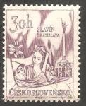 Stamps Czechoslovakia -  1501 - Le Slavin, Bratislava