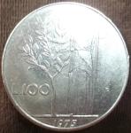 monedas de Europa - Italia -  1975 (Reverso)