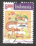 Stamps Indonesia -  2664 - Circuito de correos