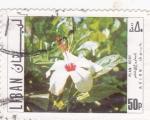Stamps Asia - Lebanon -  flor- plan vert