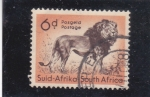 Stamps : Africa : South_Africa :  León