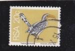 Sellos de Africa - Sudáfrica -  ave-Tockus flavirostra