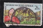 Sellos del Mundo : Africa : Sudáfrica : flor
