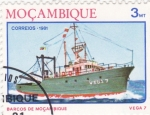 Stamps Mozambique -  Barcos de Mozambique - Vega 7
