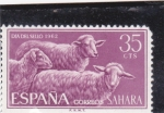Stamps Spain -  Ganado lanar -SAHARA
