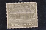 Sellos de America - Guatemala -  edificio de correos y telégrafos