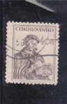 Sellos de Europa - Checoslovaquia -  Personaje