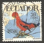 Stamps Ecuador -  645 - Gallo de la Roca, ave tropical