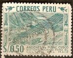 Sellos del Mundo : America : Perú : Andenes de Pisac Cusco.