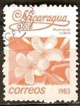 Sellos del Mundo : America : Nicaragua :  Plumeria rubra.