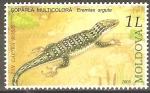 Stamps Moldova -  REPTILES  Y  ANFIBIOS  EN  PELIGRO  DE  EXTINCIÒN.  EREMÌAS  ARGUTA.
