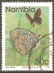 Stamps Africa - Namibia -  MARIPOSAS.  PHYSCAENEURA  PANDA.