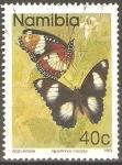 Stamps Africa - Namibia -  MARIPOSAS.  HYPOLIMNAS  MISIPPUS.