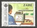 Stamps : Africa : Democratic_Republic_of_the_Congo :  Zaire - Año mundial de las Comunicaciones