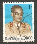 Stamps : Africa : Democratic_Republic_of_the_Congo :  698 - General Mobutu