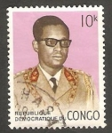 Stamps : Africa : Democratic_Republic_of_the_Congo :  704 - General Mobutu