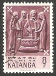 Stamps : Africa : Democratic_Republic_of_the_Congo :  Katanga - Arte indígena