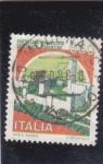 Stamps Italy -  castello Monteccrio