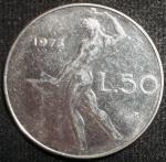 monedas de Europa - Italia -  1973 (Reverso)