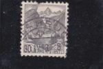 Sellos de Europa - Suiza -  Paisaje alpino