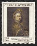 Sellos de Europa - Checoslovaquia -  P.J.Brandl (1668-1735): Autoportrét, kolem 1650