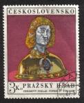 Sellos del Mundo : Europa : Checoslovaquia : Castillo de Praga, Busto de San Vito (1486)