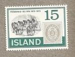 Stamps Europe - Iceland -  Reata de Caballos