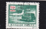Stamps Hungary -  Transporte aéreo y terrestre