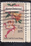 Stamps United States -  Merry Chritsmas- 75